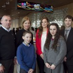 Pictured: Gary, Charlotte, Ciaran and Niamh Byrne from Abbey Vocational School, with (back) Amanda Fiel teacher and Ronan Doherty Deputy Principal. Picture Colm Mahady : Fennells - Copyright 2014 Fennell Photography