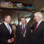 Pictured: Enda Buckley, Director of NiE, NNI; Martin Sisk, President of the Irish League of Credit Unions; and Frank Cullen, Director NNI. Picture Colm Mahady : Fennells - Copyright 2014 Fennell Photography