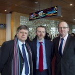 Pictured: Kevan Furbank Irish Daily Mail, Paddy Logue and Kevin O Sullivan, The Irish Times. Picture Colm Mahady : Fennells - Copyright 2014 Fennell Photography