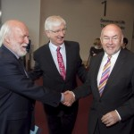Pictured: John Horgan, Press Ombudsman; Frank Cullen, coordinating director NNI; and Minister for Education, Ruairi Quinn, TD