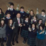 Pictured: Winners of NNI Press Pass Awards 2013 with Minster for Education, Ruairi Quinn, TD